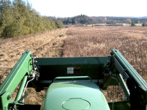 Mowing the North End of the Field