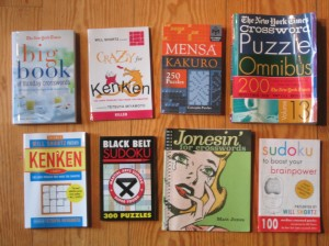 Some of the Puzzle Books I'm Taking On
