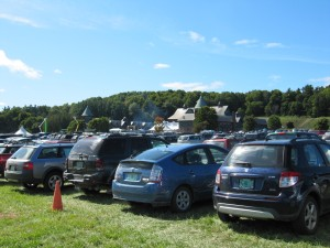Full Parking Lot for the Harvest Festival