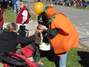 The Pumpkin Lady Handed Out Candy