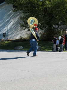 No Tractor Parade is Complete Without a Sousaphone