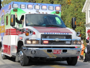 As with most parades, the ambulance started things off