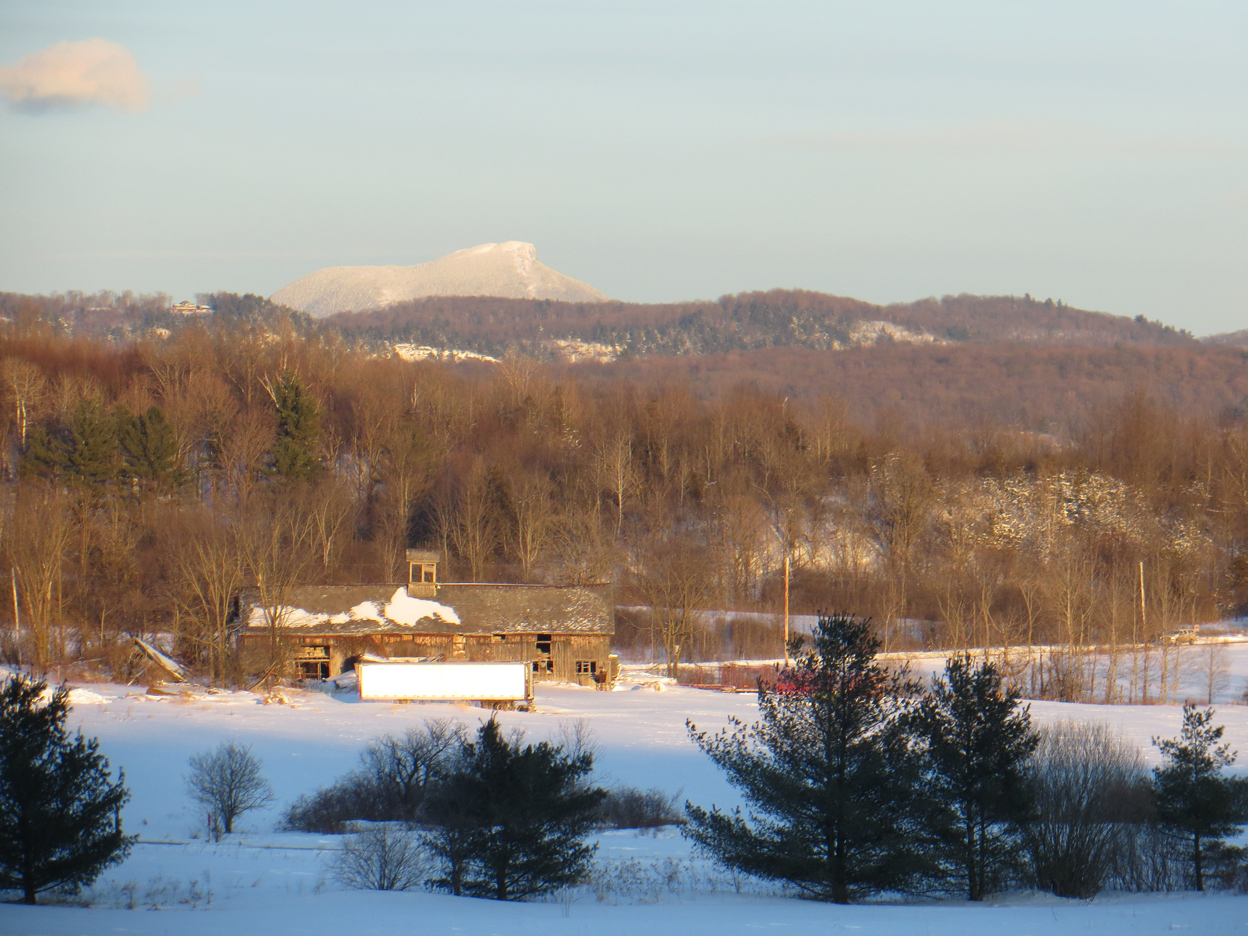 Late day sun on Camel's Hump