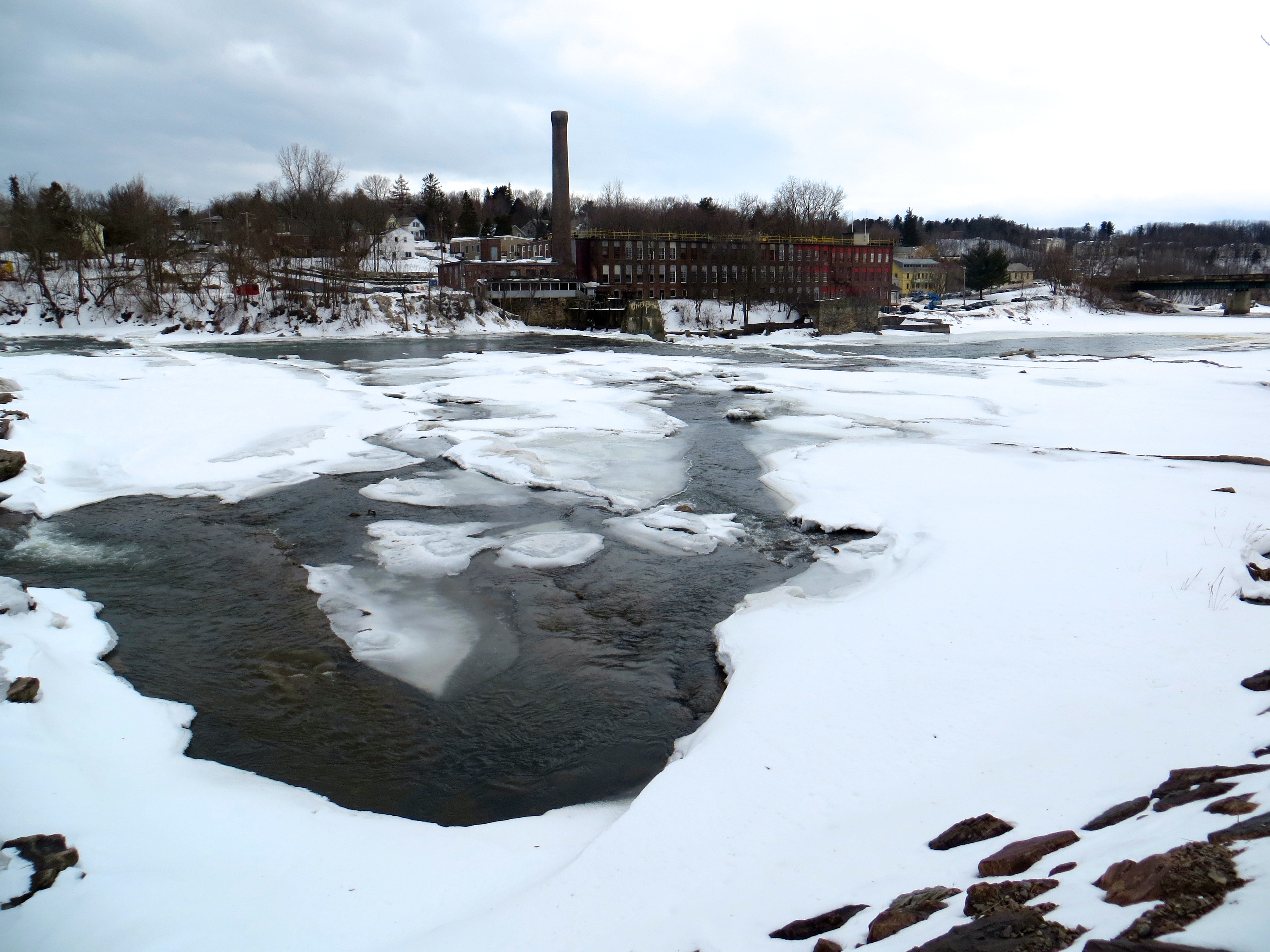 The Winooski River is still in winter mode