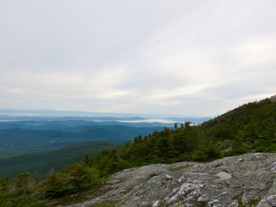 Morning view from Mount Mansfield ridge